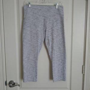 "Lululemon Leggings High Waisted Crop Cropped Grey 21"" inseam Size 12"